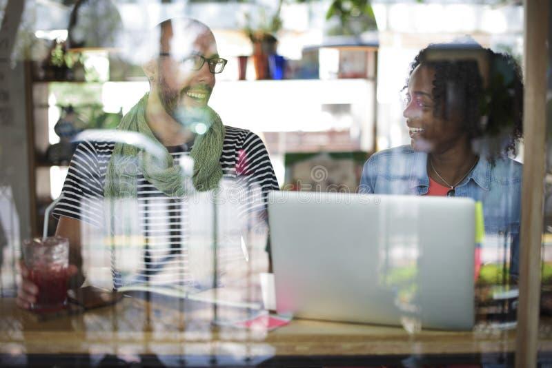 Conceito de Team Corporate Planning Communication Internet imagens de stock