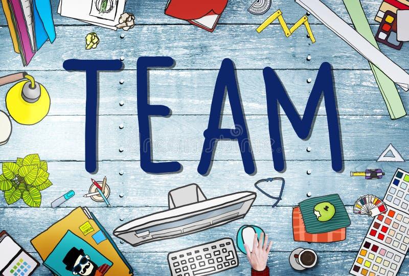 Conceito de Team Corporate Teamwork Collaboration Assistance foto de stock royalty free