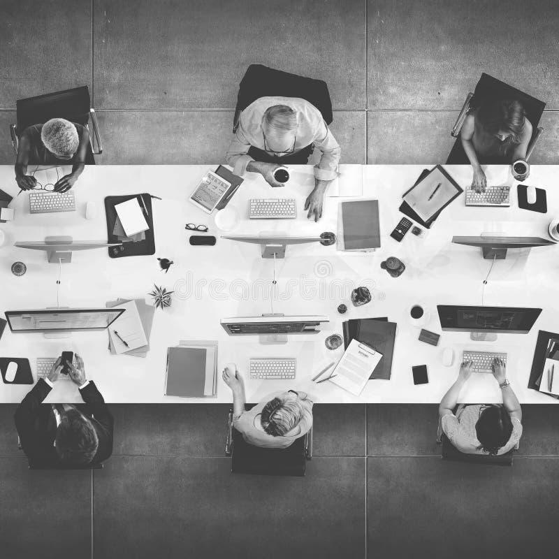 Conceito de Team Meeting Connection Digital Technology do negócio foto de stock
