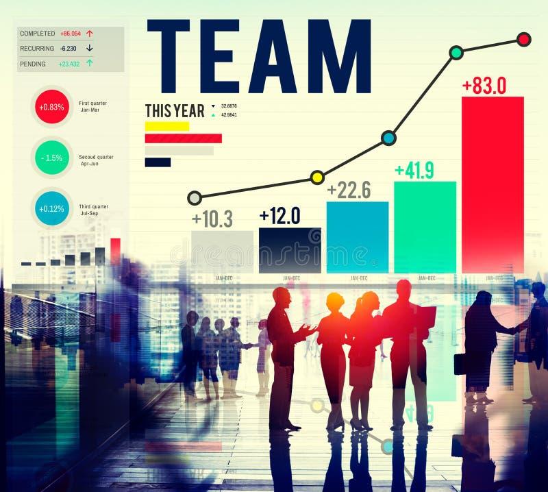 Conceito de Team Teamwork Corporate Data Analysis foto de stock royalty free
