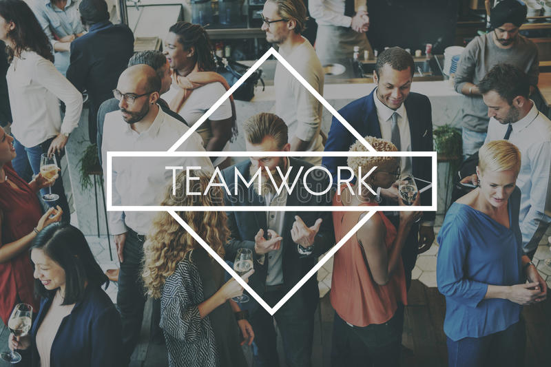 Conceito de Team Teamwork Teambuilding Synergy Empower fotos de stock