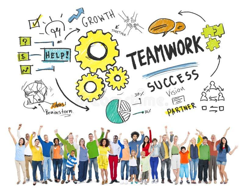 Conceito de Team Together Collaboration People Celebration dos trabalhos de equipa fotos de stock