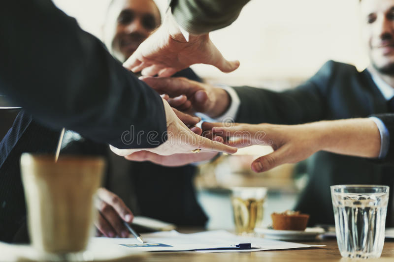Conceito de Team Unity Friends Meeting Partnership foto de stock