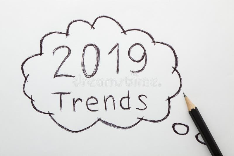 conceito de 2019 tendências fotografia de stock