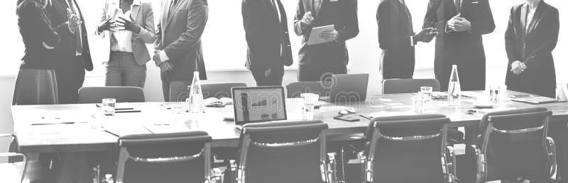 Conceito de trabalho da estratégia da discussão da reunião de unidade de negócio fotografia de stock