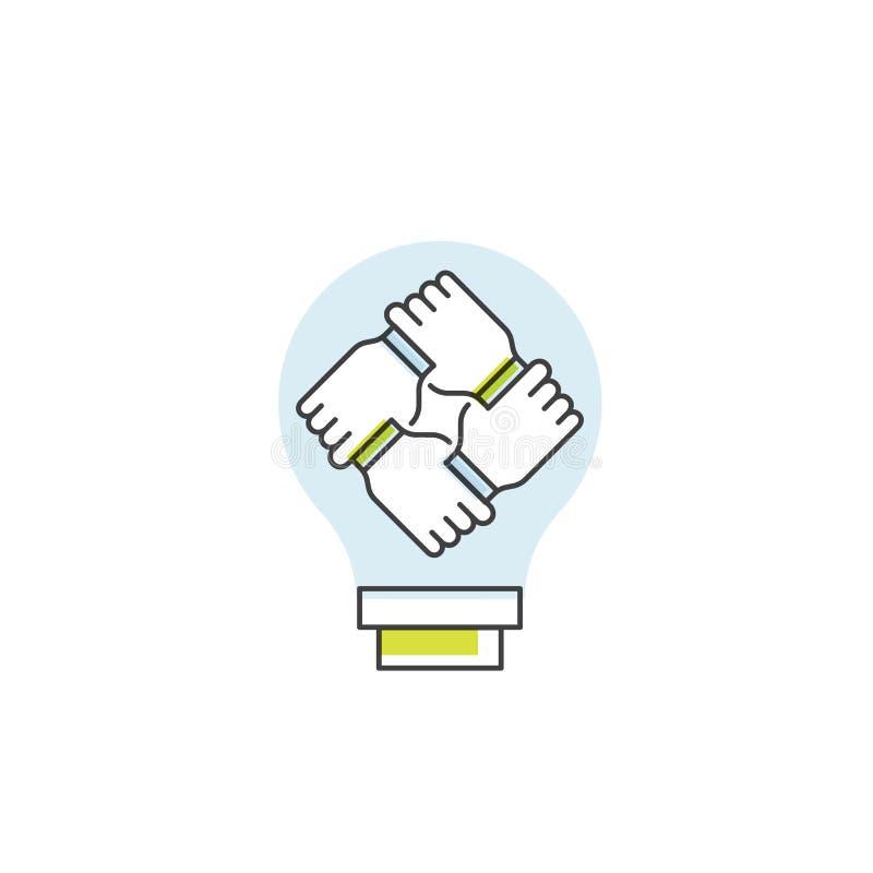 Conceito de trabalhos de equipa da cooperação, grupo, parceria ilustração do vetor