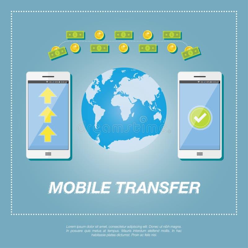 Conceito de transferência de dinheiro ilustração stock