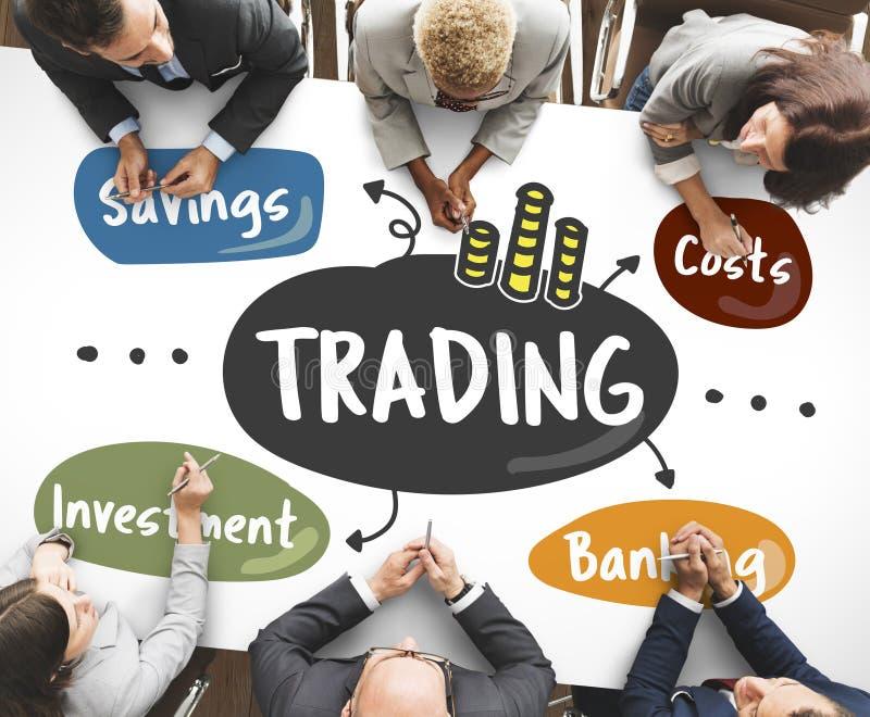 Conceito de troca do diagrama da palavra do mercado de valores de ação fotos de stock royalty free