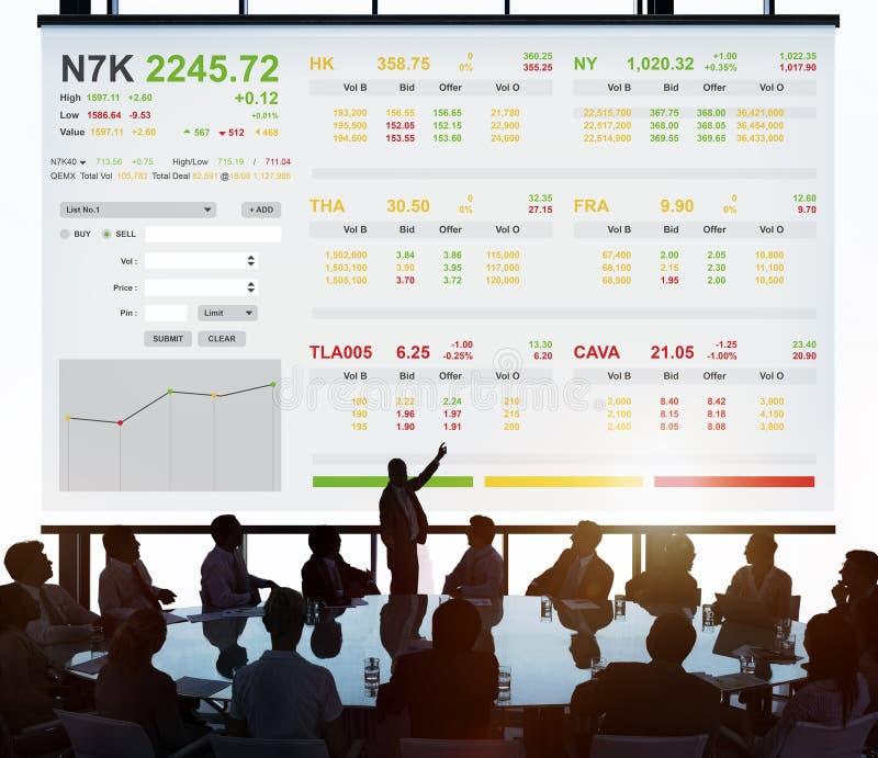 Conceito de troca do gráfico da finança dos estrangeiros da bolsa de valores fotografia de stock