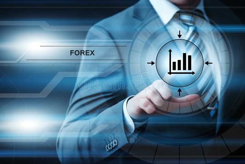 Conceito de troca do Internet do negócio da moeda da troca do investimento do mercado de valores de ação dos estrangeiros imagens de stock