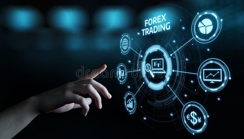 Conceito de troca do Internet do negócio da moeda da troca do investimento do mercado de valores de ação dos estrangeiros foto de stock royalty free