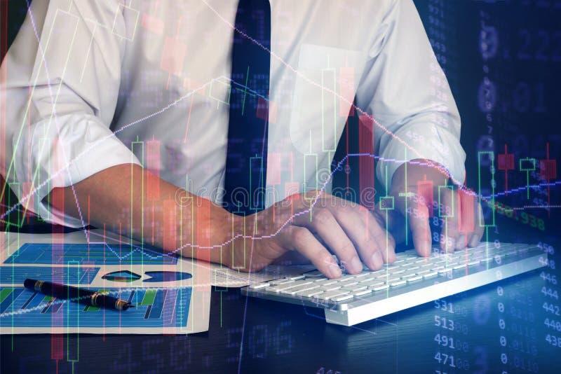 Conceito de troca em linha da tecnologia imagens de stock royalty free