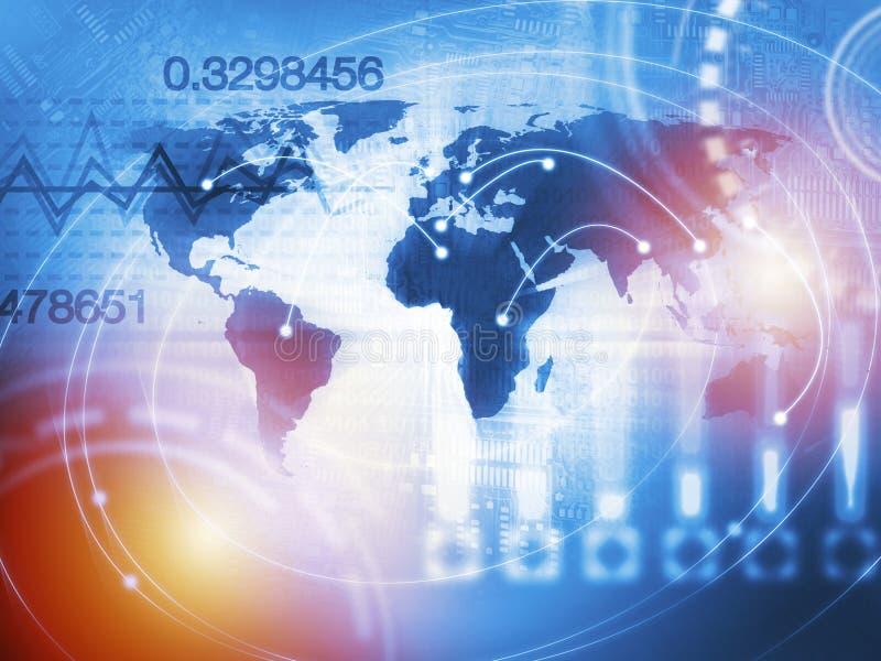 Conceito de troca quantitativo do estoque e dos estrangeiros com inteligência artificial ilustração do vetor