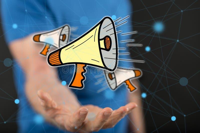Conceito de uma comunicação fotografia de stock