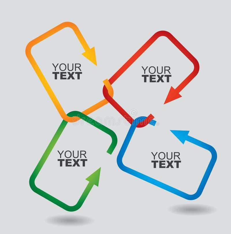 Conceito de uma comunicação ilustração stock
