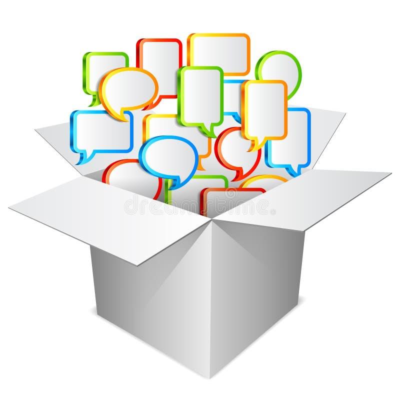 Conceito de uma comunicação. ilustração stock