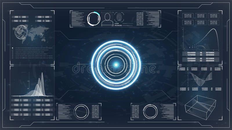 Conceito de uma comunicação da tecnologia do sumário do fundo do vetor Projeto futurista do hud da relação Fundo digital abstrato ilustração do vetor