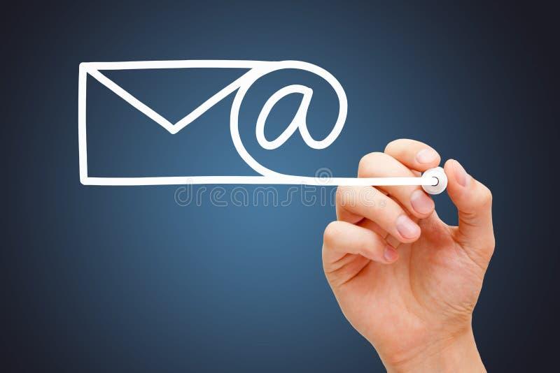 Conceito de uma comunicação do Internet do e-mail foto de stock royalty free