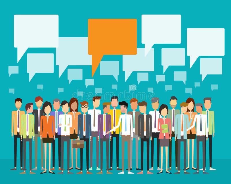 Conceito de uma comunicação empresarial dos povos do grupo ilustração stock