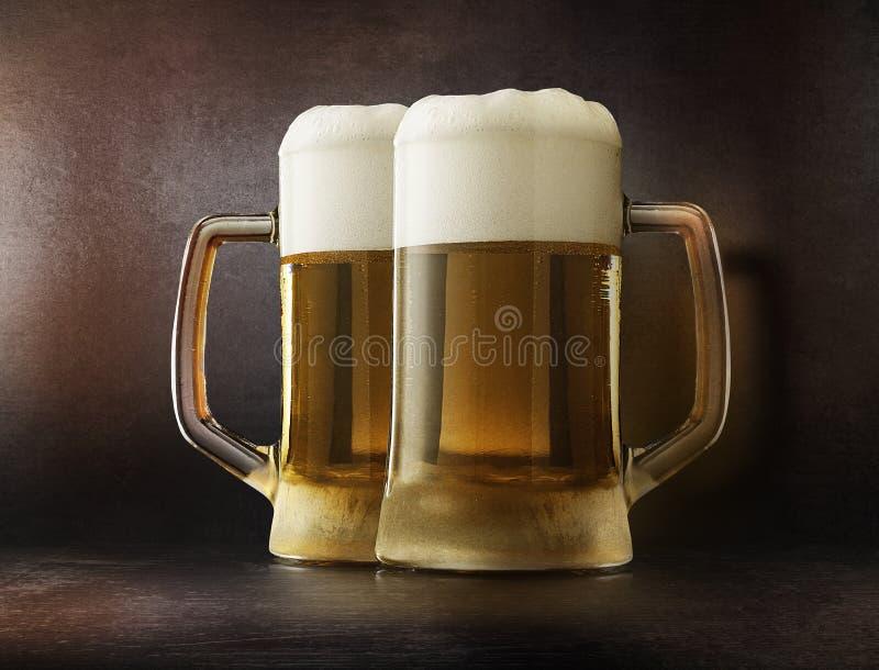 Conceito de vidro da cerveja fotografia de stock