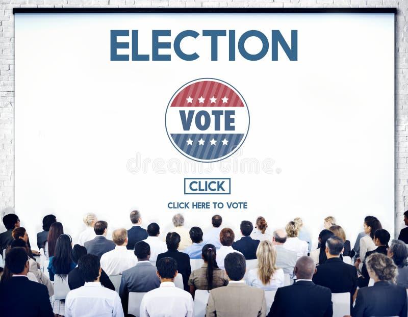 Conceito de votação bem escolhido do governo do voto da eleição imagem de stock