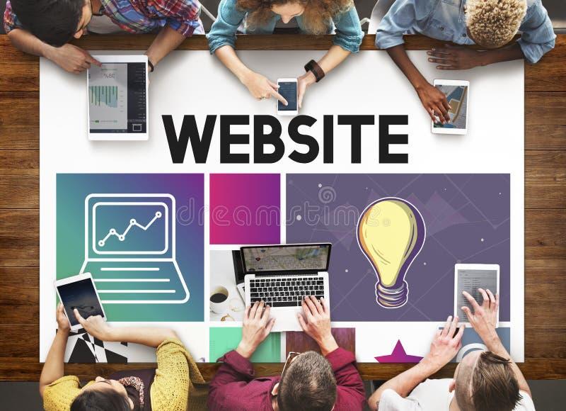 Conceito de WWW dos meios do software do projeto UI do Web site imagem de stock royalty free