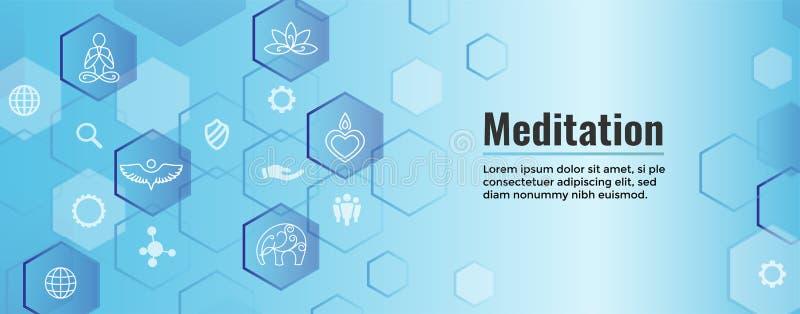 Conceito de Zen Meditation Mandala Design Symbol com Em da ioga de Swirly ilustração stock