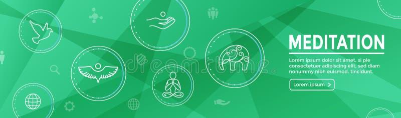 Conceito de Zen Meditation Mandala Design Symbol com Em da ioga de Swirly ilustração royalty free