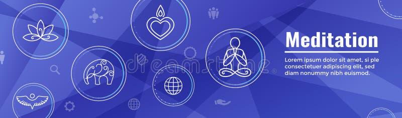 Conceito de Zen Meditation Mandala Design Symbol com Em da ioga de Swirly ilustração do vetor