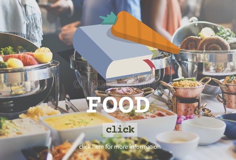 Conceito delicioso dos ingredientes saudáveis do menu do alimento imagem de stock royalty free