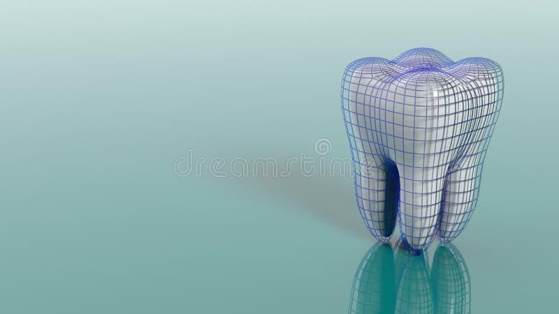 Conceito dental da proteção ilustração 3D ilustração do vetor