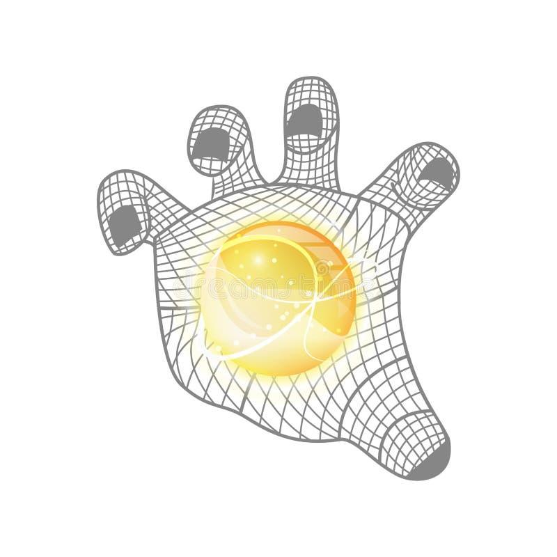 Conceito disponivel da tecnologia do mármore ilustração do vetor