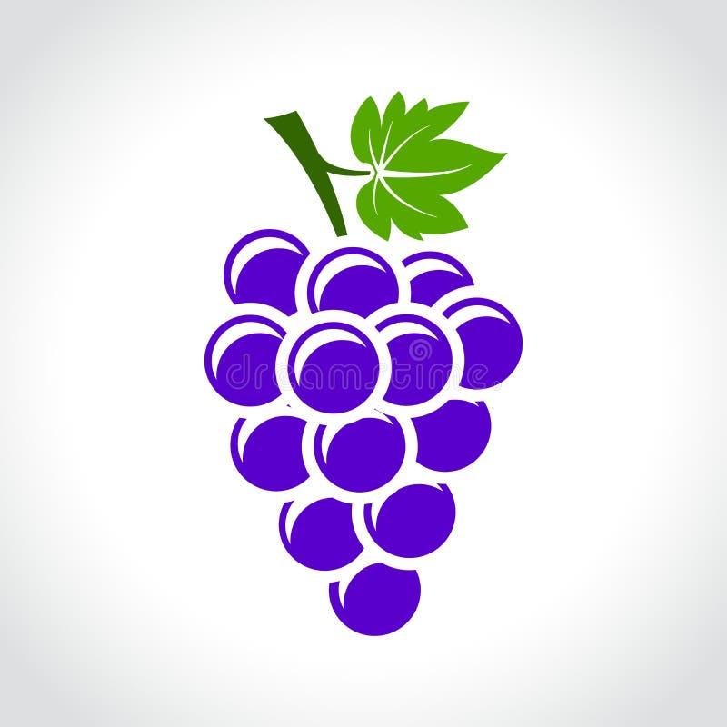 Conceito do ícone das uvas para vinho ilustração royalty free