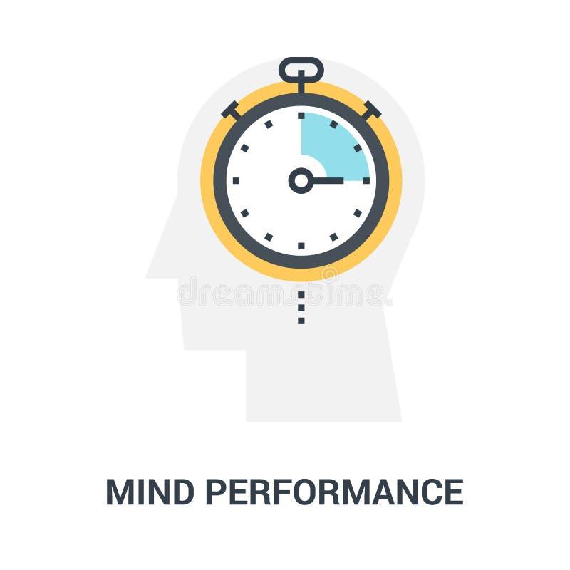Conceito do ícone do desempenho da mente fotos de stock