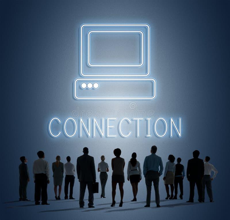 Conceito do ícone do computador dos meios do Web site do Web page fotos de stock royalty free
