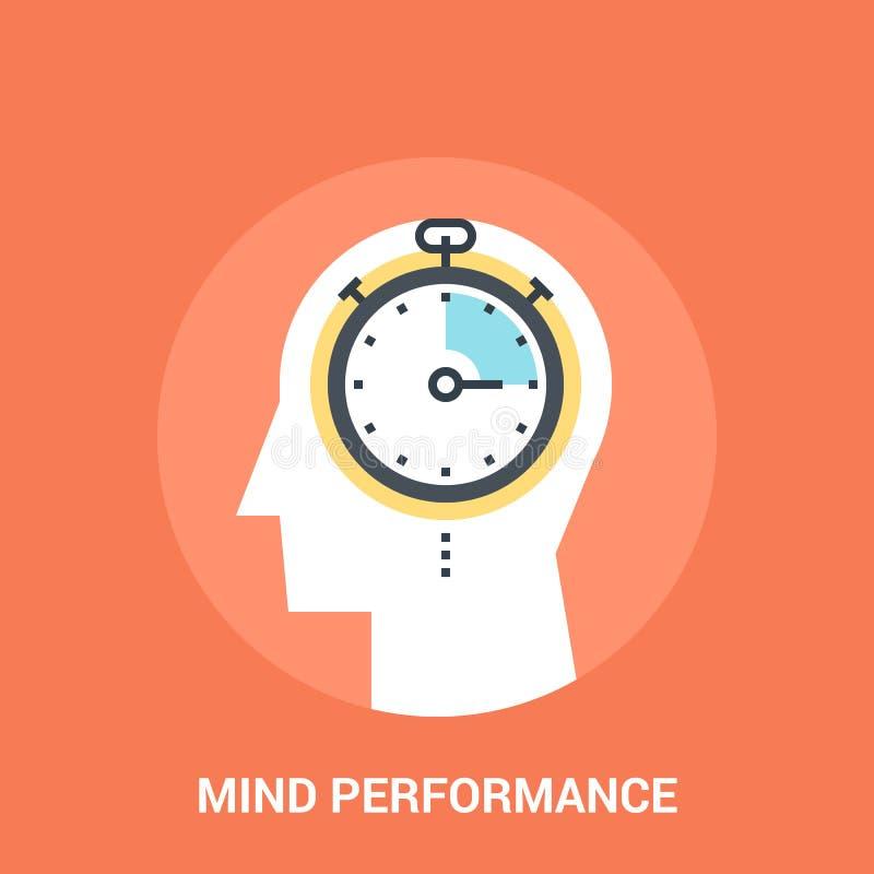 Conceito do ícone do desempenho da mente ilustração do vetor