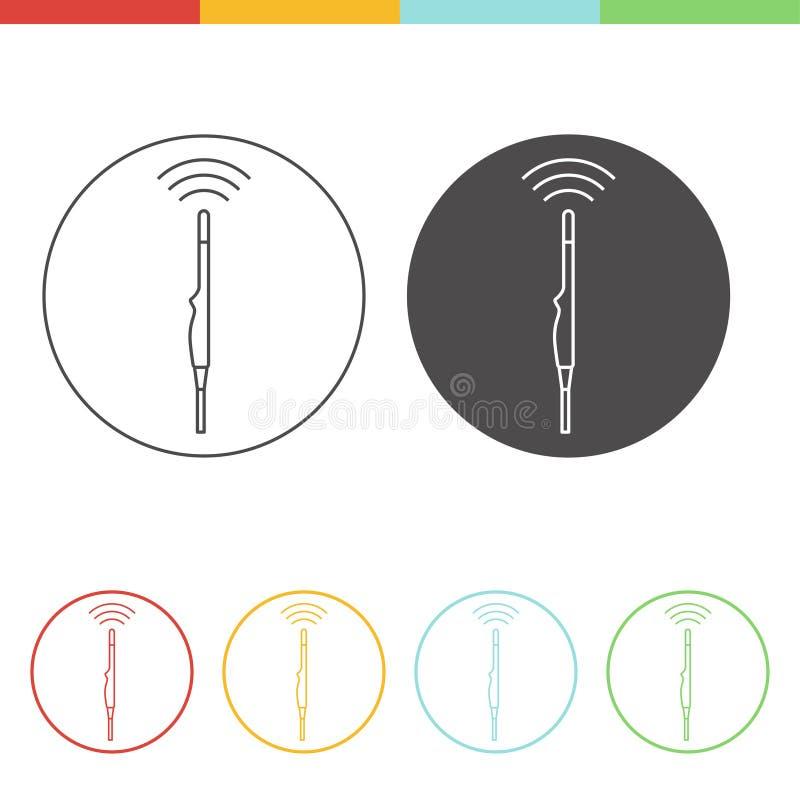 Conceito do ícone do ultrassom ilustração do vetor