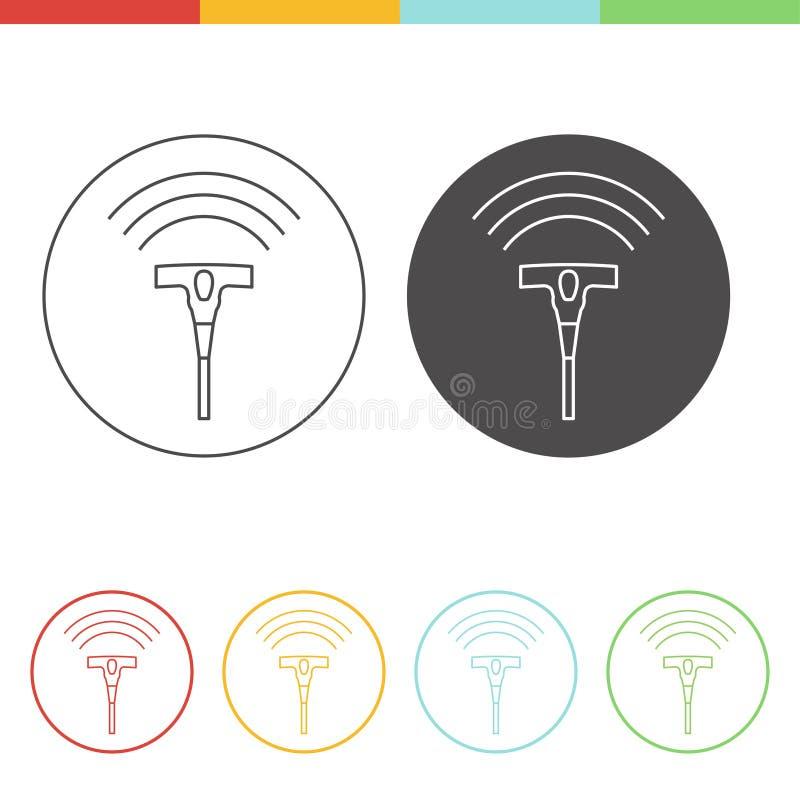 Conceito do ícone do ultrassom ilustração stock