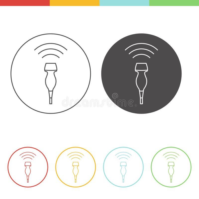 Conceito do ícone do ultrassom ilustração royalty free