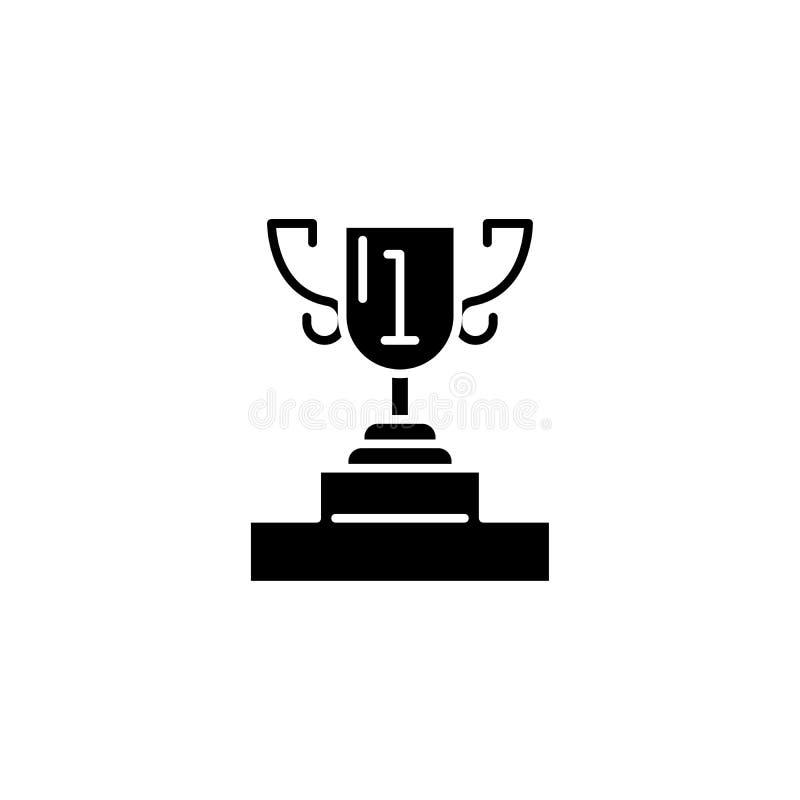Conceito do ícone do preto do copo da apresentação Símbolo liso do vetor do copo da apresentação, sinal, ilustração ilustração stock