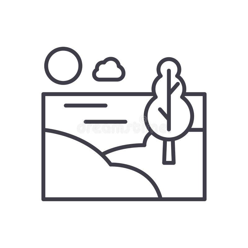 Conceito do ícone do preto da área do campo Símbolo liso do vetor da área do campo, sinal, ilustração ilustração royalty free