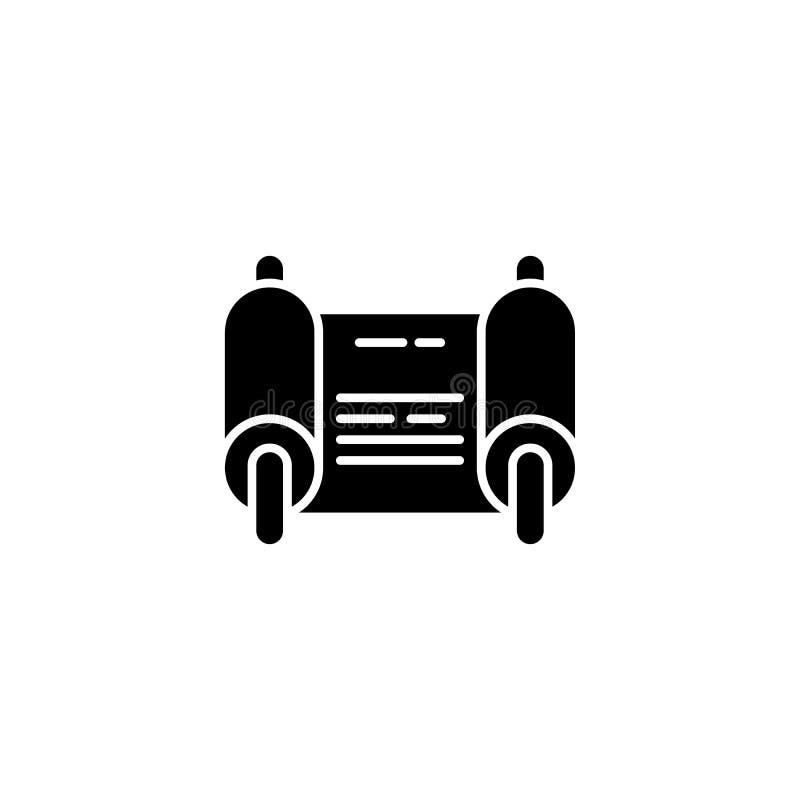 Conceito do ícone do preto de Fiat Símbolo liso do vetor de Fiat, sinal, ilustração ilustração royalty free