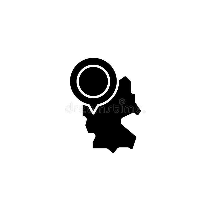 Conceito do ícone do preto do mapa de Alemanha Símbolo liso do vetor do mapa de Alemanha, sinal, ilustração ilustração stock