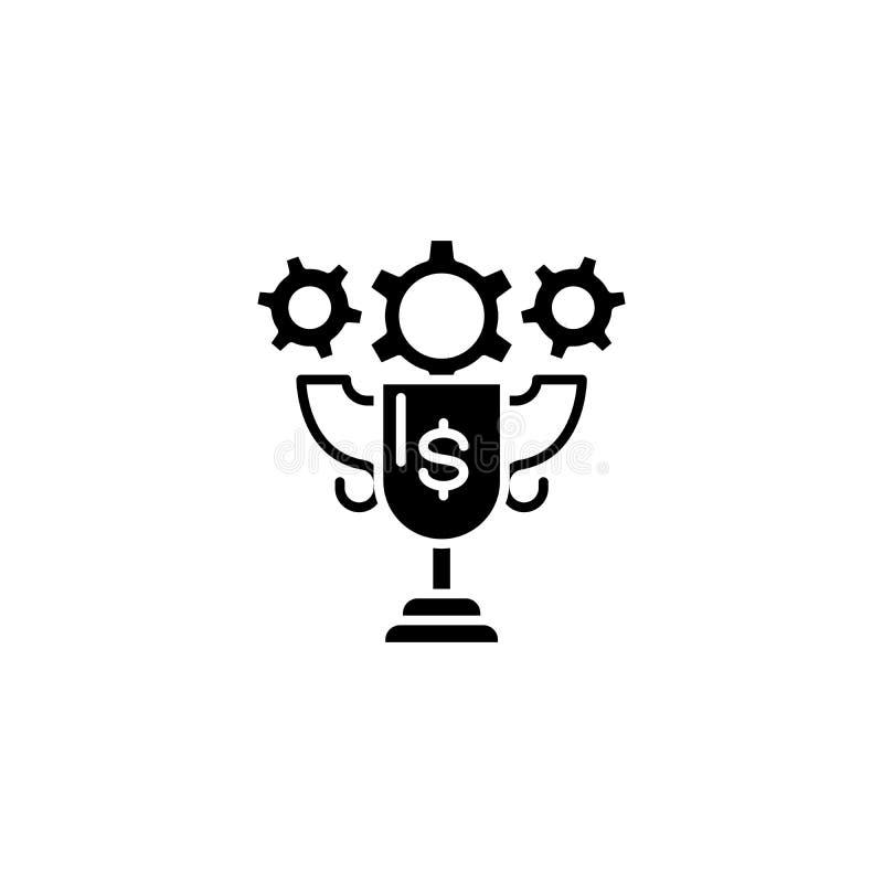 Conceito do ícone do preto do troféu de Triumph Símbolo liso do vetor do troféu de Triumph, sinal, ilustração ilustração do vetor