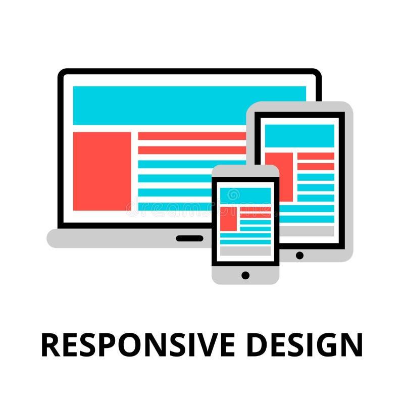 Conceito do ícone responsivo do projeto ilustração do vetor