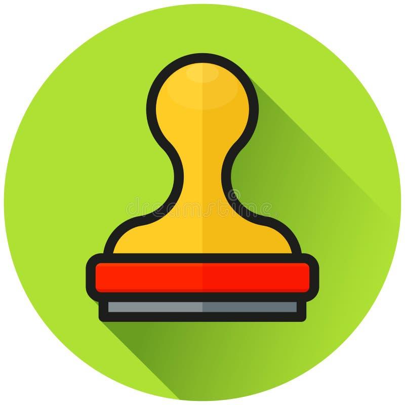 Conceito do ícone do verde do círculo do selo ilustração royalty free