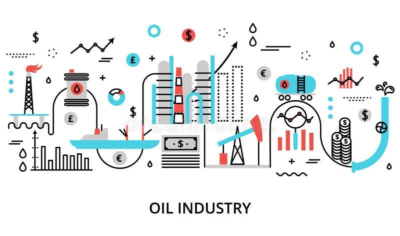 Conceito do óleo indusrty ilustração royalty free
