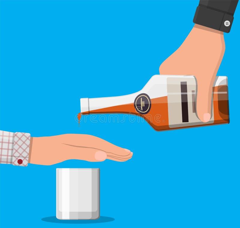 Conceito do abuso de álcool ilustração stock