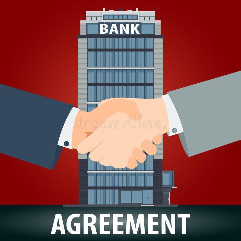 Conceito do acordo de operação bancária ilustração royalty free