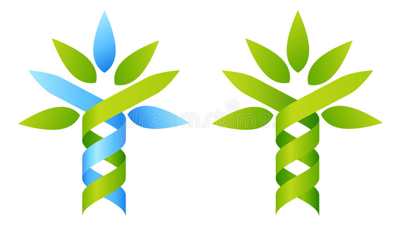 Conceito do ADN da árvore ilustração stock